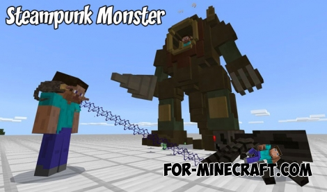 Steampunk Monster addon for MCBE 1.2.10+