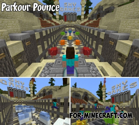Parkour Pounce map for MCPE 1.2
