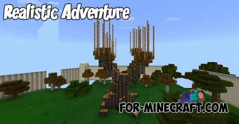 Realistic Adventure textures for MCPE 1.X