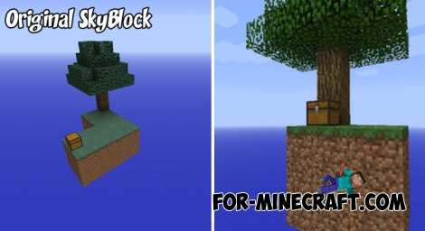 SkyBlock map (Original) for Minecraft PE