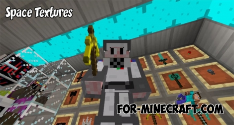 Space Textures (+addon) for Minecraft PE 1.2