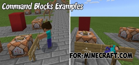 MCPE Command Blocks Examples map