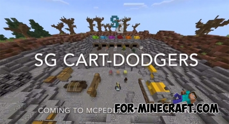 Cart-Dodgers map for Minecraft 1.2