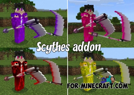 Scythes addon for Minecraft 1.2
