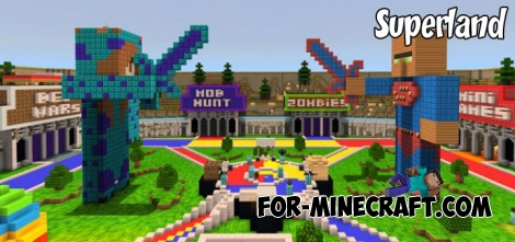 Superland map for Minecraft PE 1.2