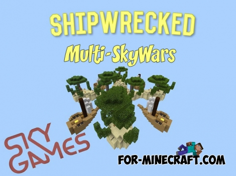 Multi-SkyWars map for Minecraft BE 1.2