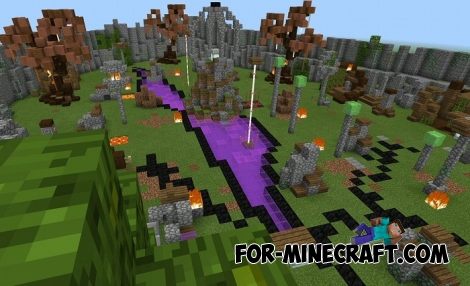 The most Dangerous Zombie map for Minecraft BE 1.2+