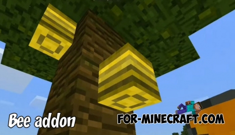 Bee addon for Minecraft Bedrock 1.2
