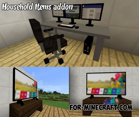 Household Items addon for Minecraft Bedrock