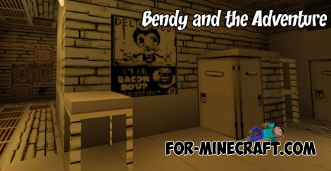 Bendy and the Adventure map for Minecraft BE 1.2