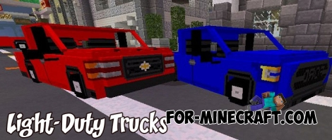 Light-Duty Trucks addon for Minecraft PE 1.2/1.5