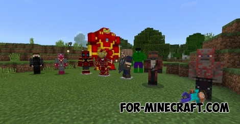 Avengers: Infinity War for MCPE 1.2/1.5