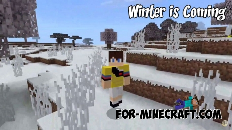 Winter is Coming addon for MCBE 1.4/1.5