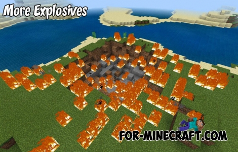 More Explosives addon for MCBE 1.2/1.4+