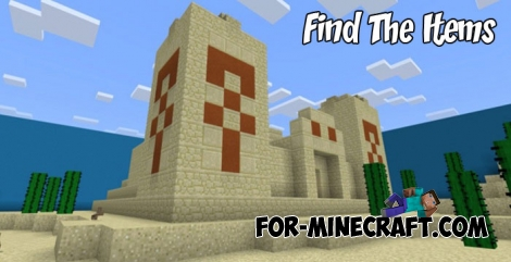 Find The Items map for Minecraft PE 1.2+