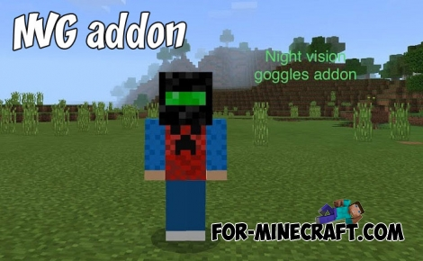 NVG addon for Minecraft PE 1.2+