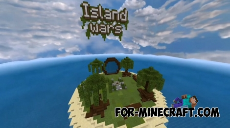 Island Wars map for Minecraft Bedrock Edition 1.2/1.5