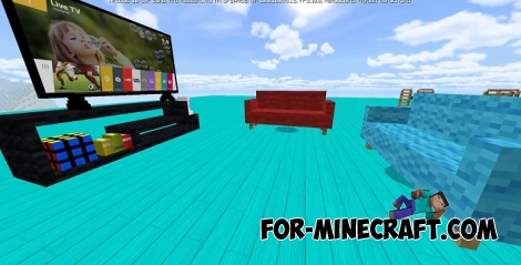 FurniCraft addon v2 for Minecraft PE 1.2+