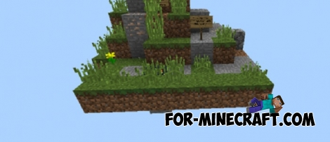Hardcore Sky Survival map for Minecraft PE 1.5+