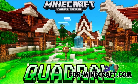 Quadral PE textures for Minecraft Bedrock Edition 1.4+