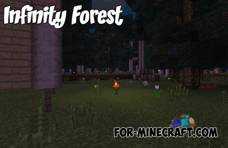 Infinity Forest mod for Minecraft PE