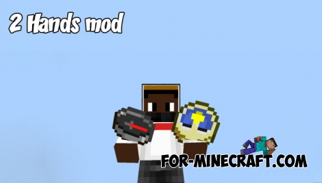 2 Hands mod for Minecraft PE 1.4+
