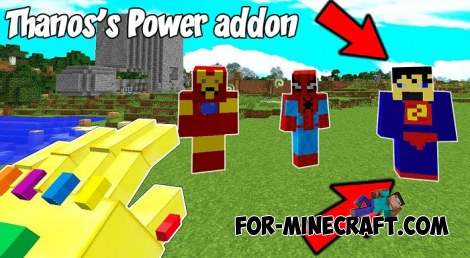 Thanos's Power addon for MCBE 1.2/1.6+