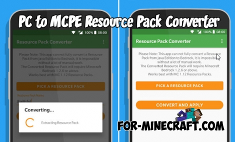 PC to MCPE Resource Pack Converter