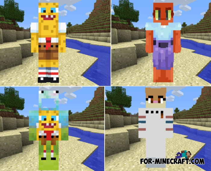 SpongeBob Skin Pack For MCPE - Spongebob skins fur minecraft