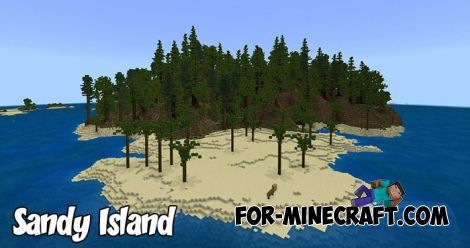 Sandy Island map for Minecraft BE 1.6+