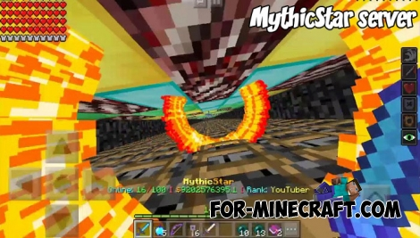 MythicStar server for Minecraft PE 1.4+