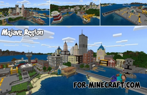 Mojave Region map v10 for Minecraft PE 1.6+
