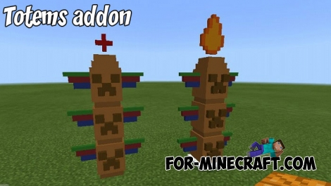 Totems addon for Minecraft PE 1.x