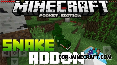 Big Snakes addon for Minecraft Bedrock Edition