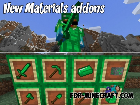 New Materials addons for Minecraft PE 1.2/1.6+
