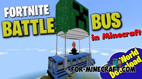 Fortnite Bus addon for Minecraft BE 1.4+