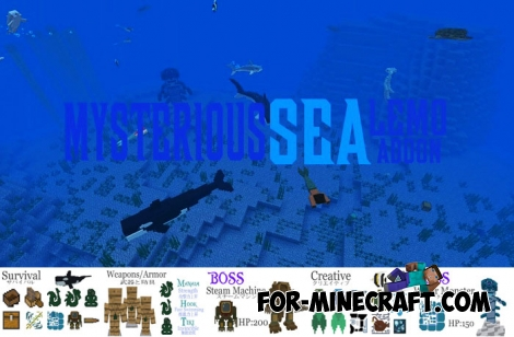 Mysterious Sea addon for Minecraft PE 1.5+