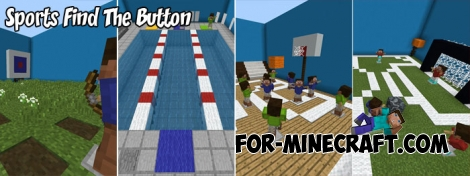 Sports Find The Button map for MCPE 1.6+