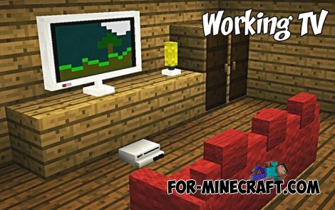 Working TV addon for Minecraft PE