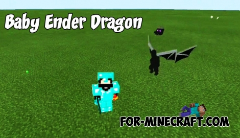 Baby Ender Dragon addon for Minecraft PE 1.4/1.7