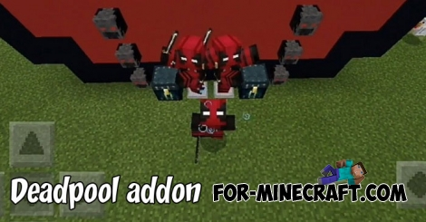 Deadpool addon for MCBE 1.7+