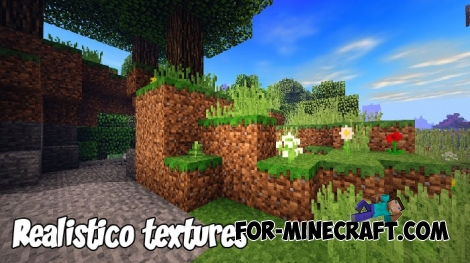 Realistico textures 128x for MCPE 1.5+