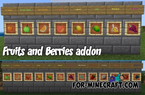 Fruits and Berries addon for MCPE 1.6/1.7