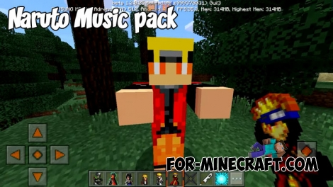 Naruto Music pack for Minecraft PE 1.X