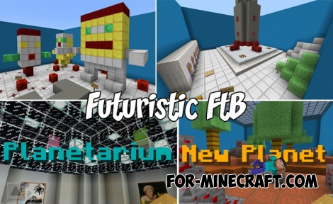 Futuristic FtB map for Minecraft Bedrock 1.7+
