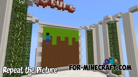 Repeat the Picture map for Minecraft PE 1.6/1.7