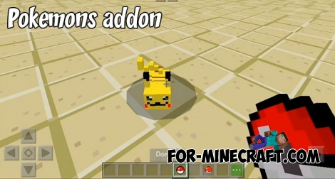 Pokémons addon for Minecraft 1.8.0.8+