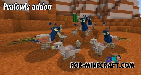 Peafowls addon for Minecraft PE 1.8