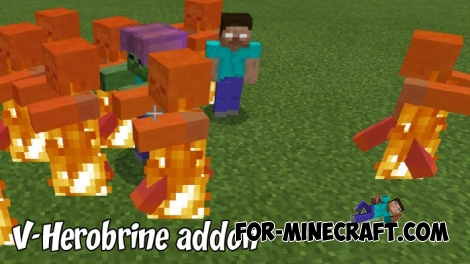 V-Herobrine addon for Minecraft BE 1.8