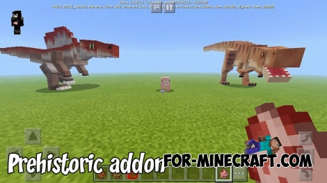 Prehistoric addon for MCBE 1.8+